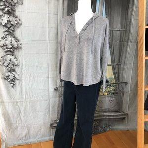 Eileen Fisher Grey Dolman Sleeve Sweatshirt Size S